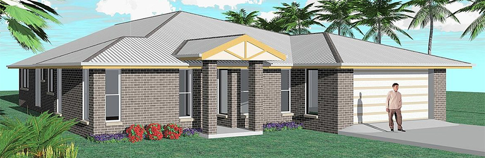 Affordable Quality Homes Entertainer 4 Bedroom Floor Plan Rockhampton
